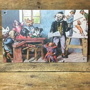 """Dogs in the Courtroom Decorative Tin Sign - 6"""" x 9"""